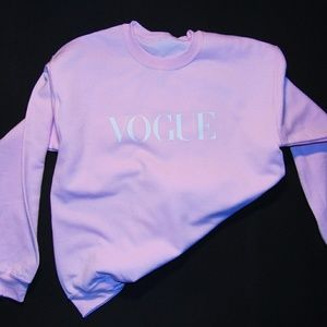 Pink Vogue crewneck sweater